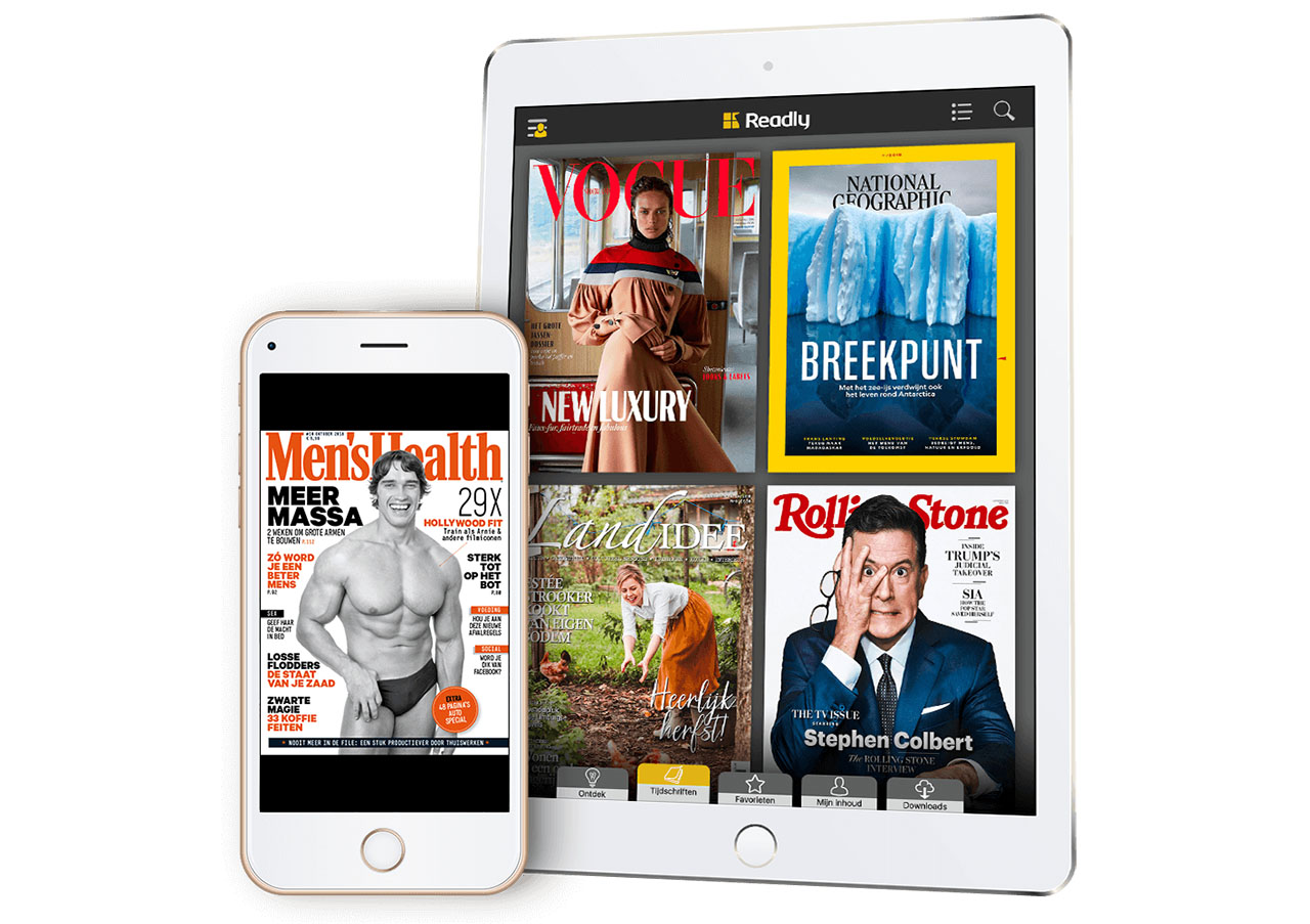 Readly app op iPhone en iPad