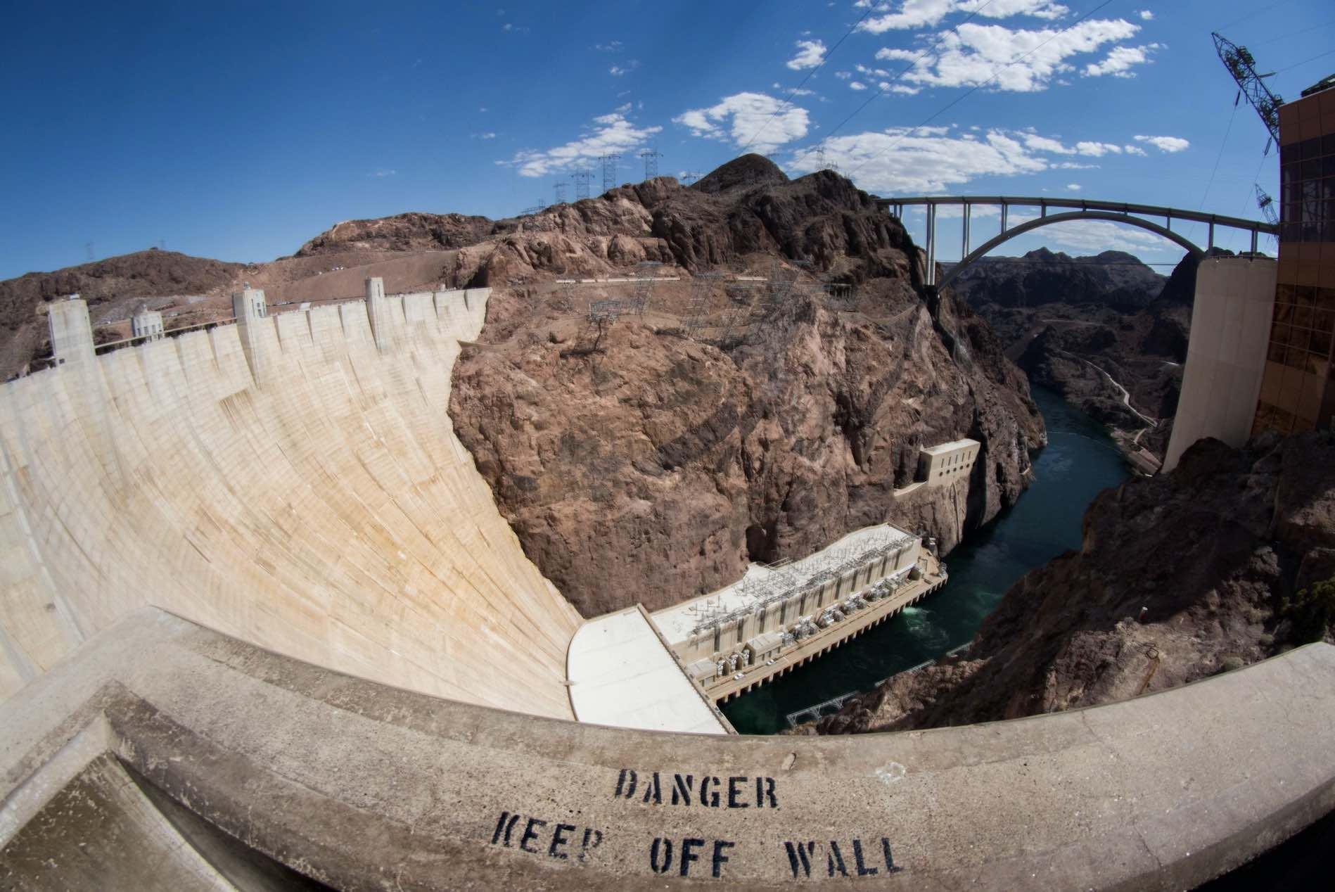 Fisheyefoto Hoover Dam