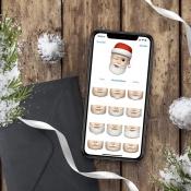 Kerstman Memoji instellen.