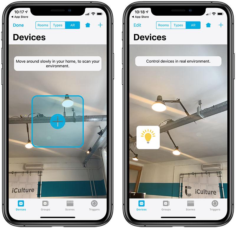 Device-app met AR voor HomeKit