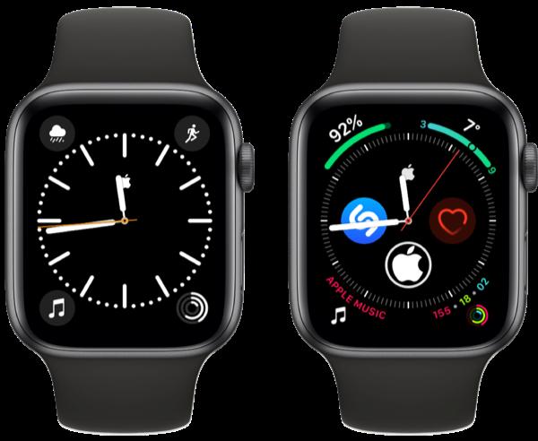 Apple-logo wijzerplaat met Kleur en Infograaf.