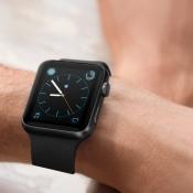 Apple Watch-wijzerplaat met Apple-logo.