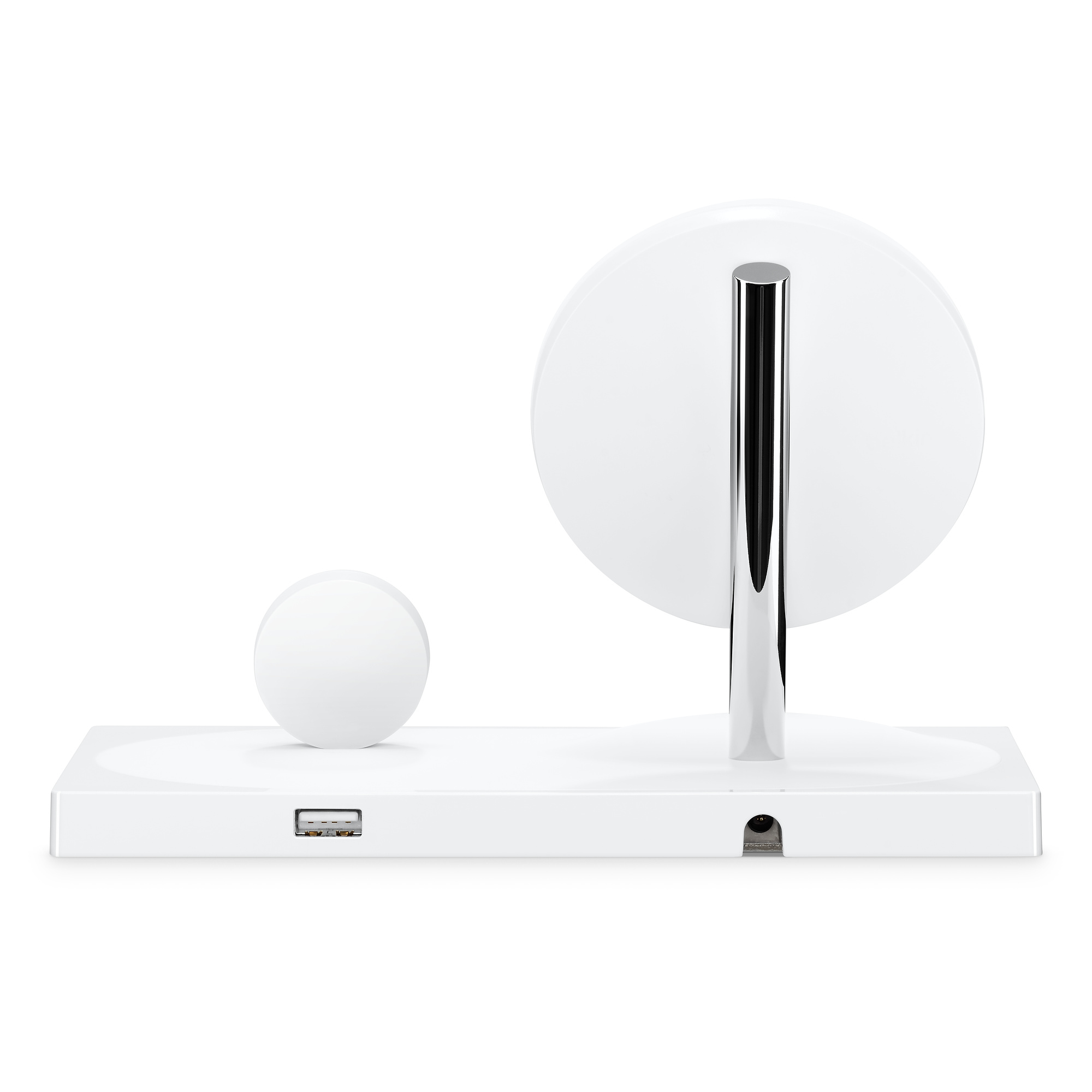 Achterkant van Belkin Boost Up dock voor iPhone en Apple Watch.