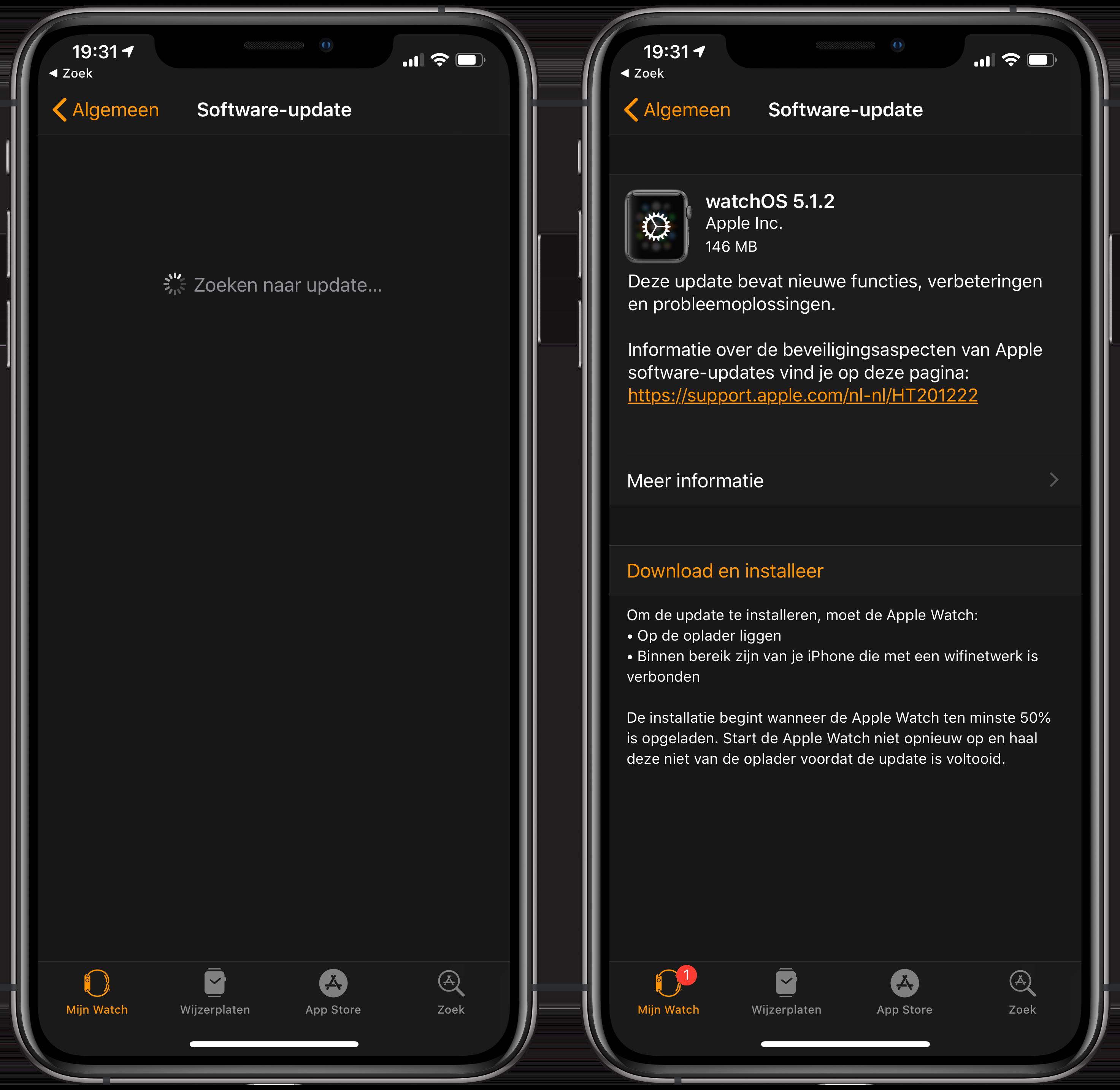 Apple Watch snel updaten