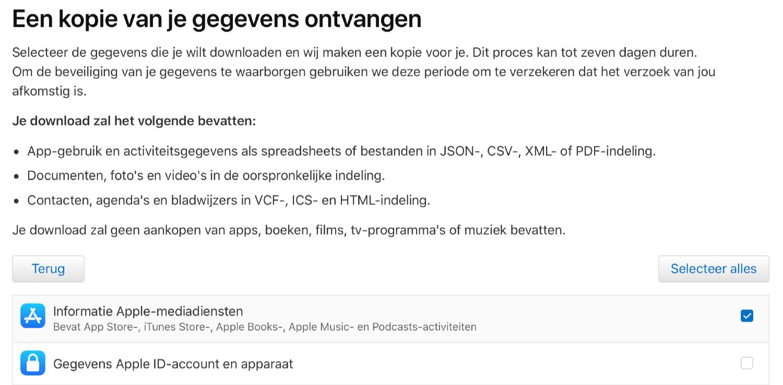 Apple Music data opvragen.