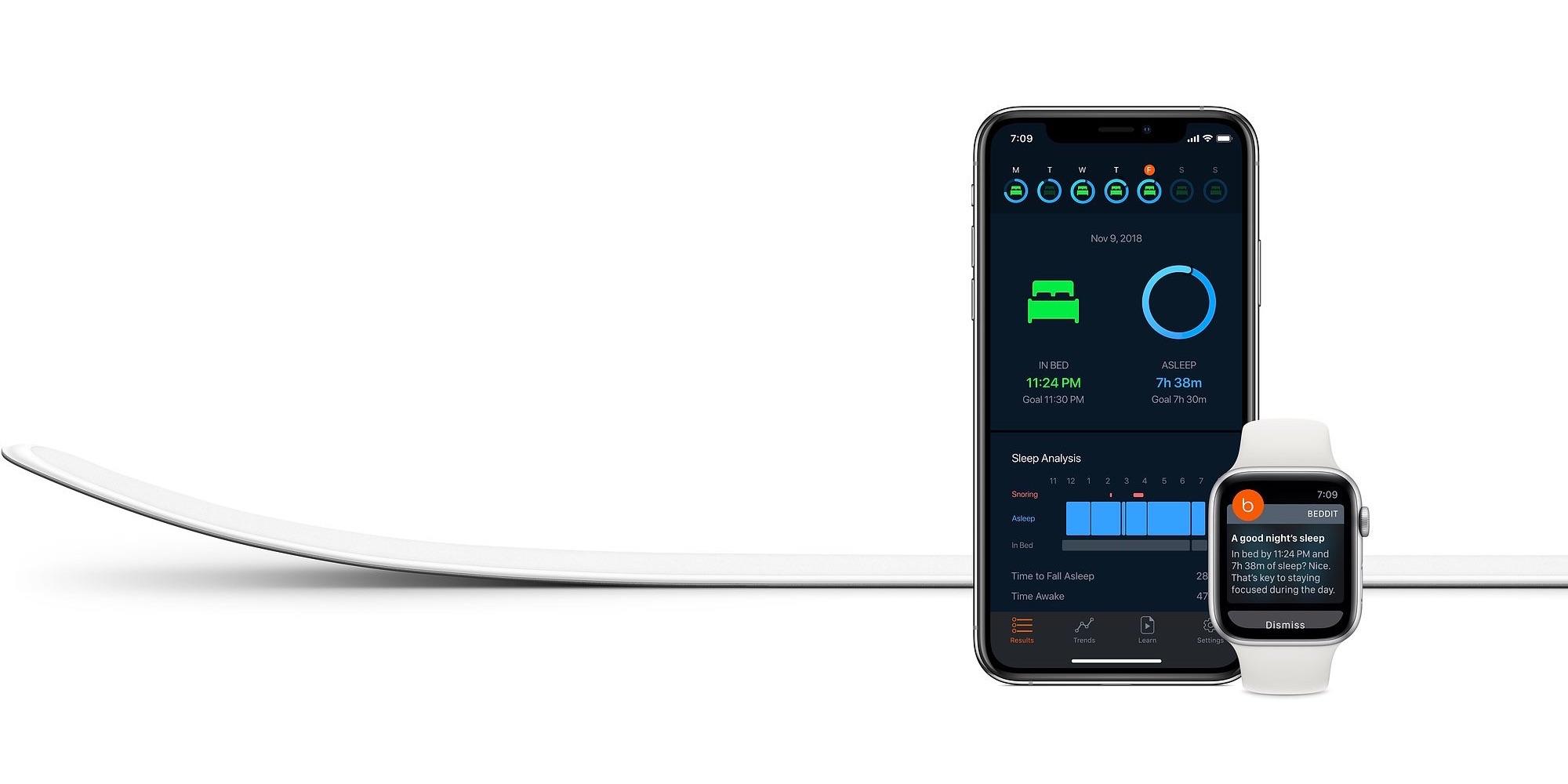 Beddit 3.5 slaapmonitor met app.