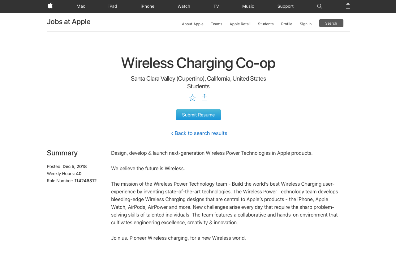 Wireless Charging: AirPower-vacature