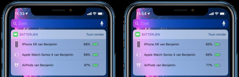 AirPods-batterijpercentage.