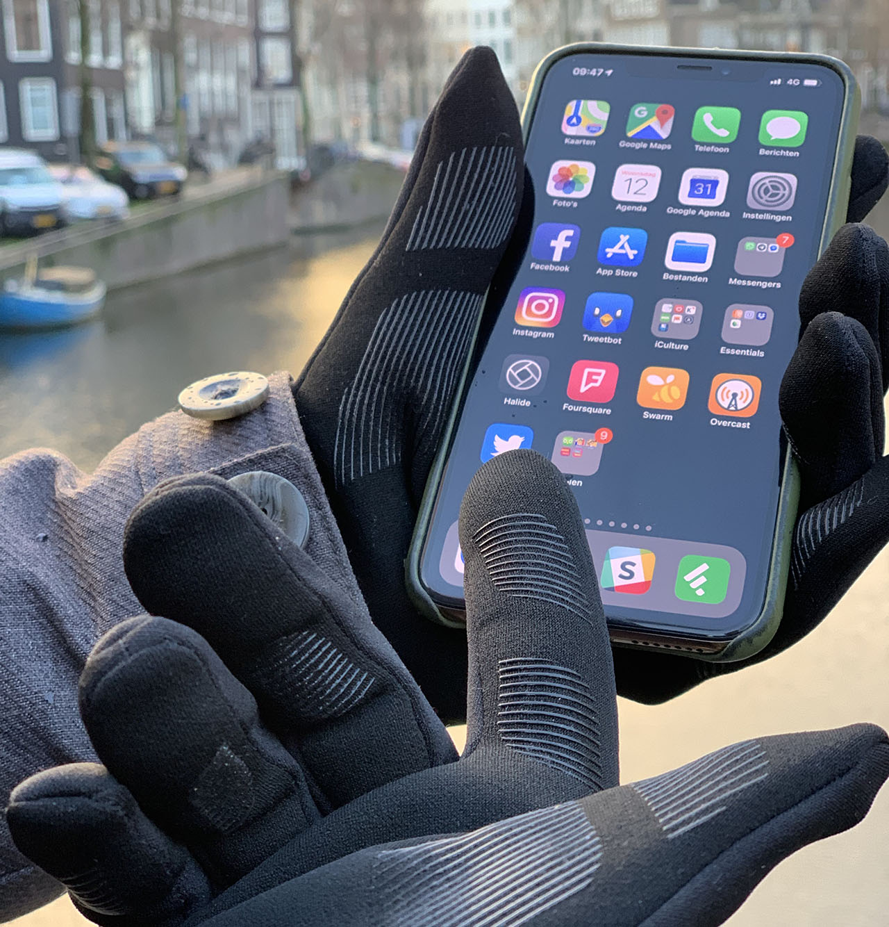 Mujjo Touchscreen Gloves: met iPhone