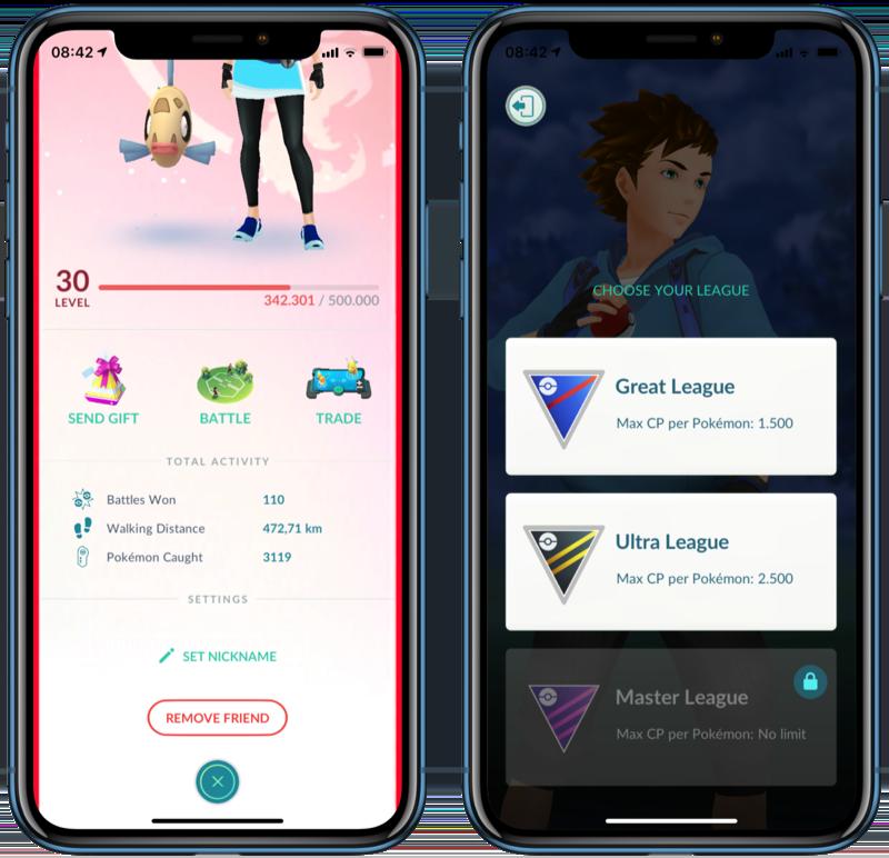 Pokémon Go vriend uitdagen voor gevecht.