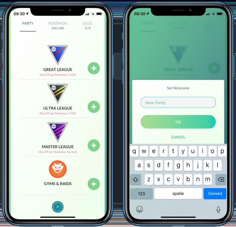 Pokémon Go teams samenstellen voor spelergevechten.