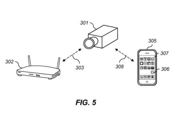Beveiligingscamera in Apple-patent.
