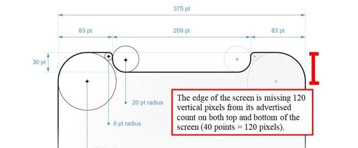iPhone XS ronde hoeken