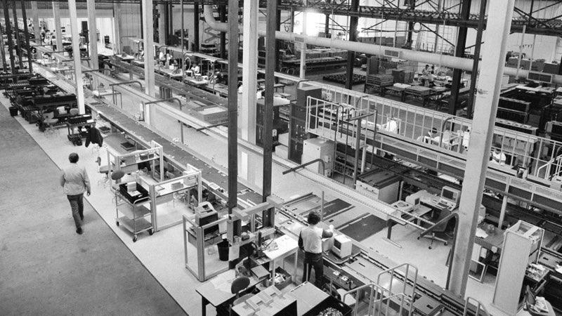 Macintosh-fabriek in VS