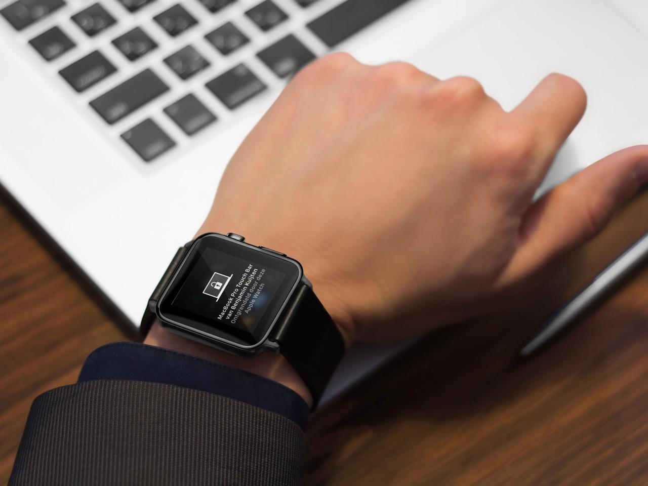 Apple Watch ontgrendelt een Mac.