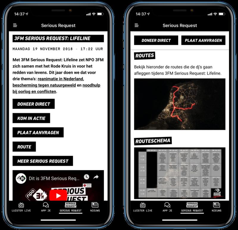 3FM Serious Request 18 met de app.