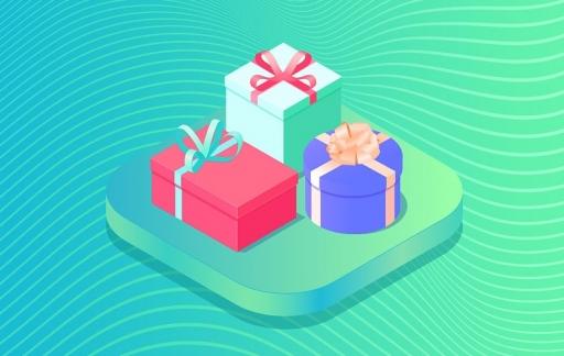 App met cadeautjes.