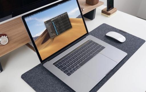 Finder weergave op MacBook.