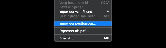 Mailbox importeren