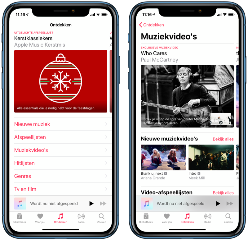 Apple Music muziekvideo's zoeken.