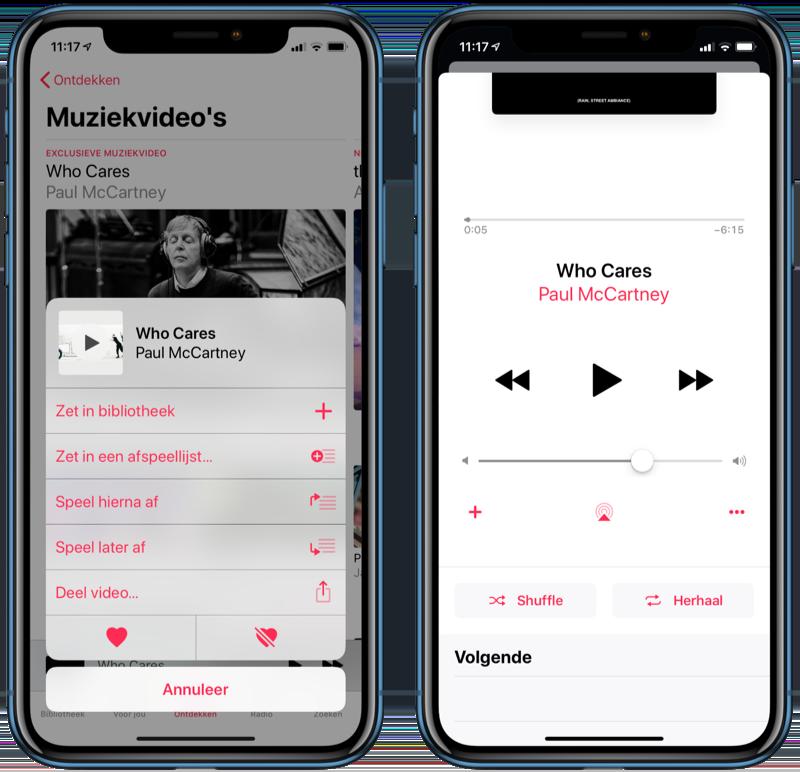 Apple Music muziekvideo's toevoegen.