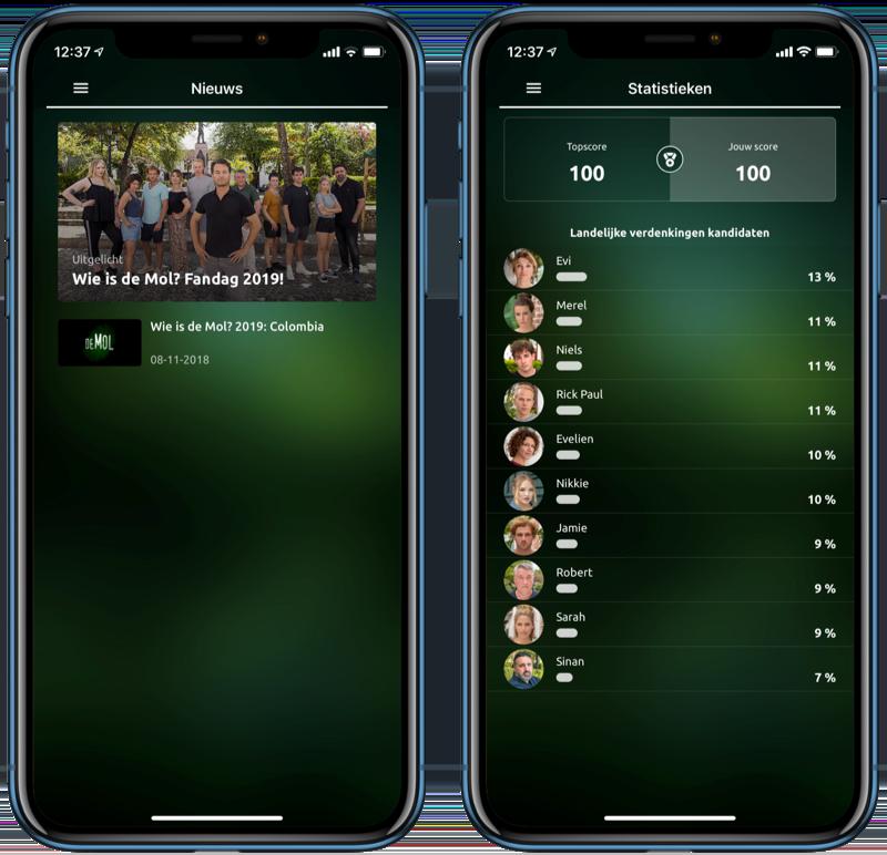 Wie is de Mol?-app 2019.