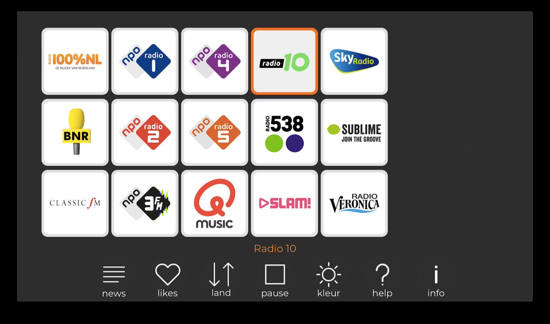 radioNED op Apple TV met landelijke zenders.