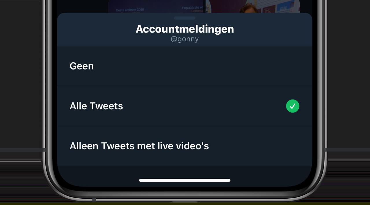 Twitter-meldingen instellen