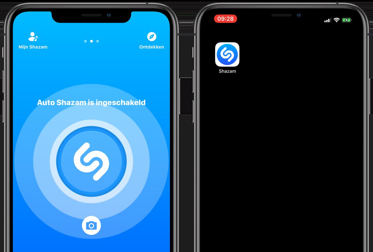 Auto Shazam op de iPhone
