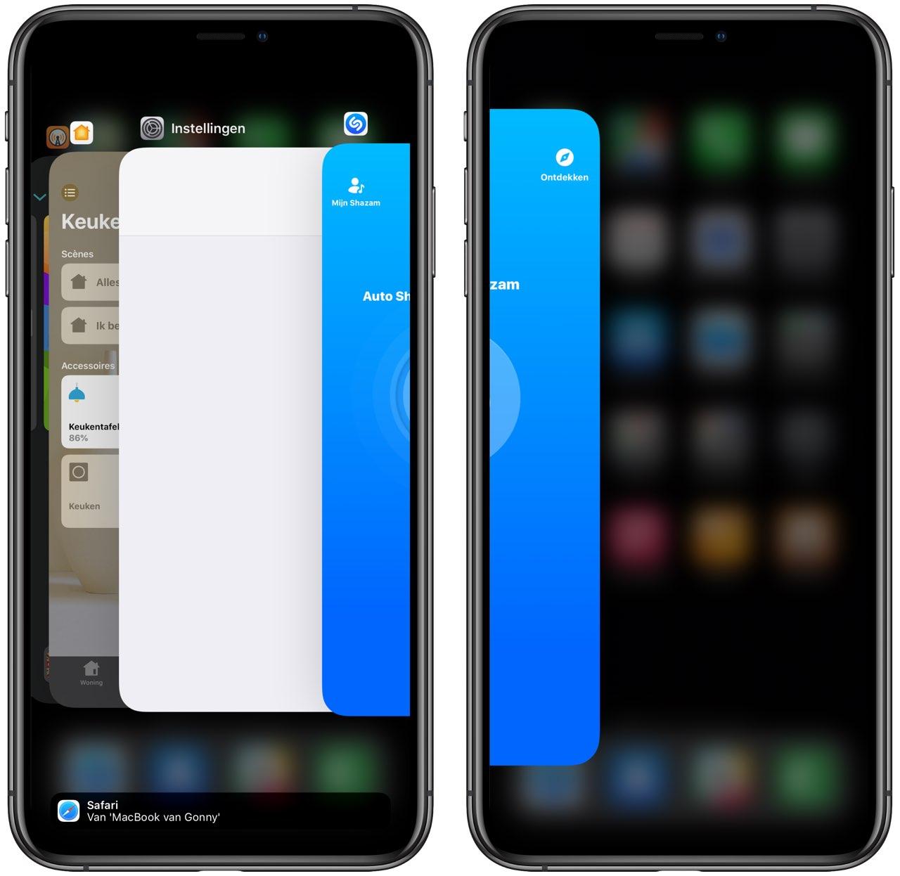Appswitcher op iPhone
