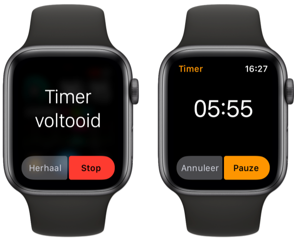 Timer op Apple Watch stoppen.
