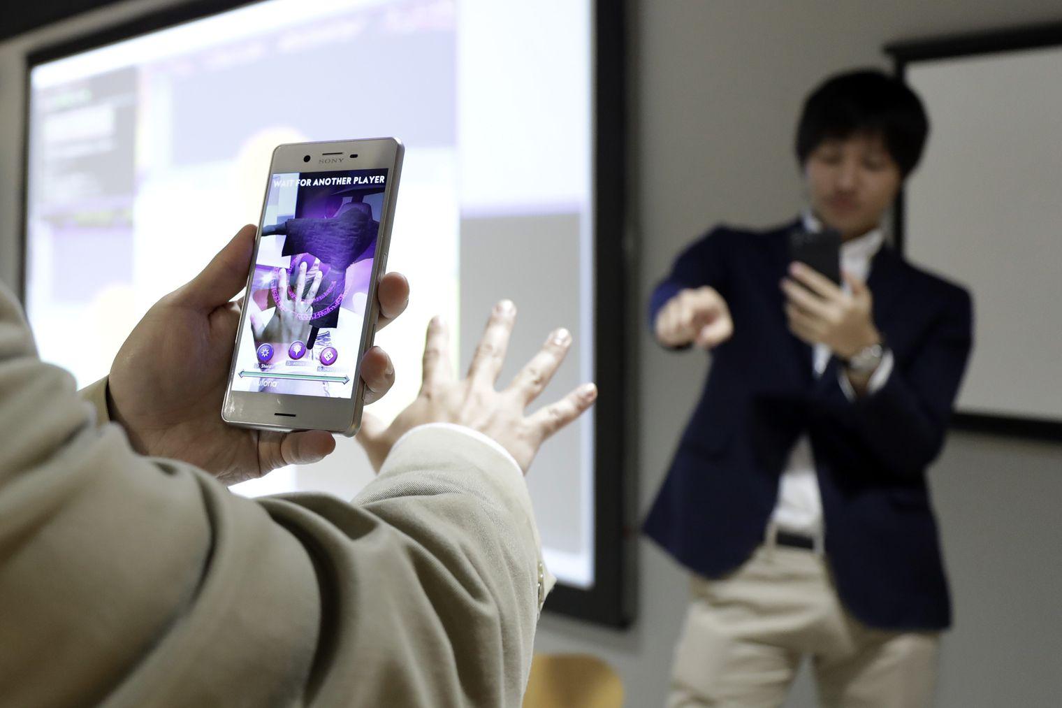 Sony 3D camera met handbewegingen