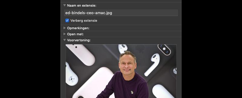 Bestandsformaat tonen op Mac