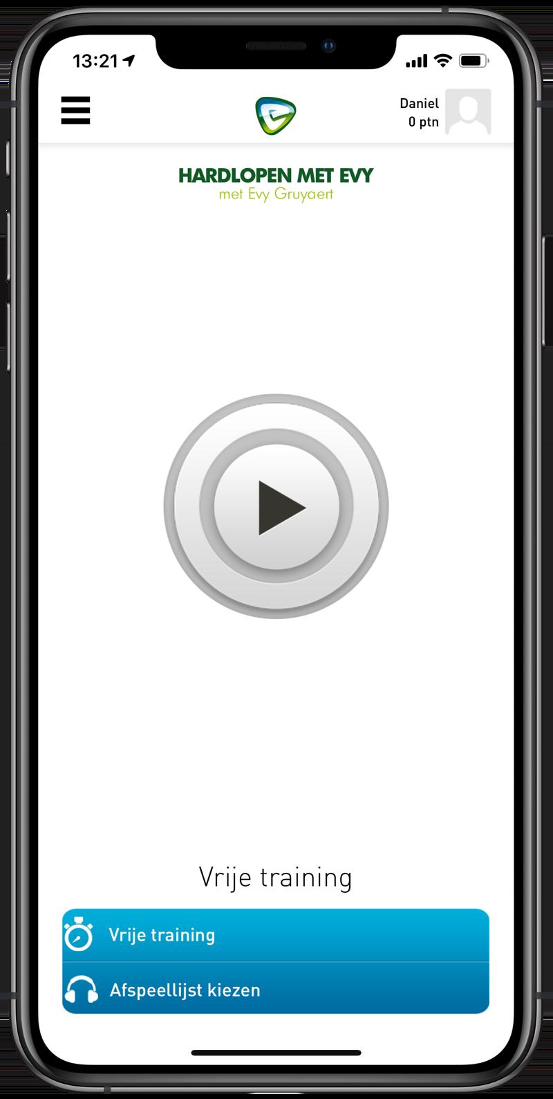 Hardlopen met Evy app