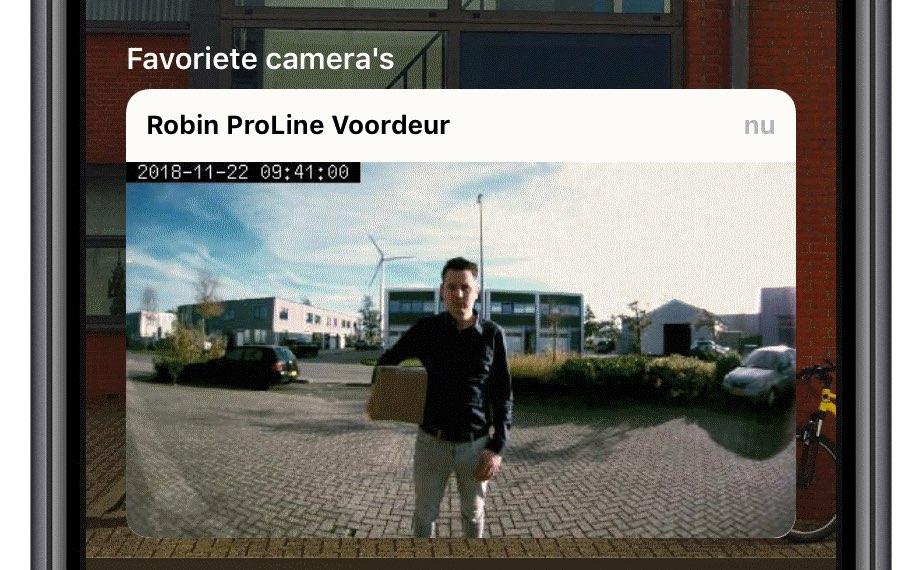 Robin ProLine deurbel in Woning-app