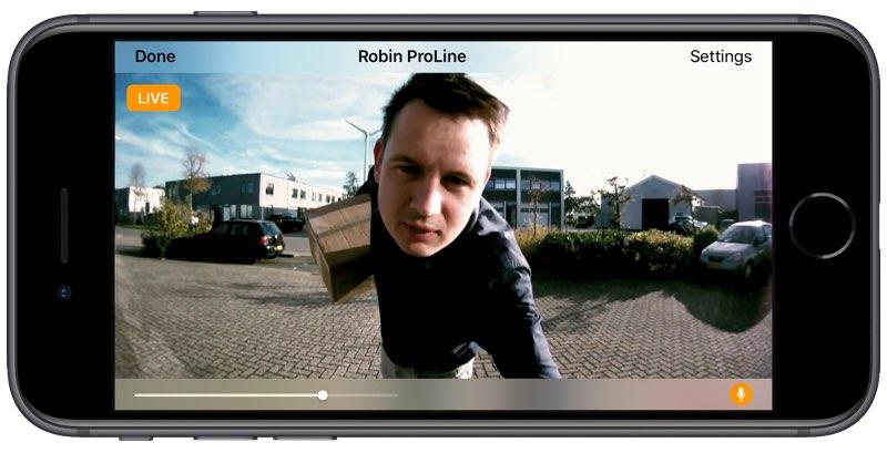 Robin ProLine deurbel met HomeKit