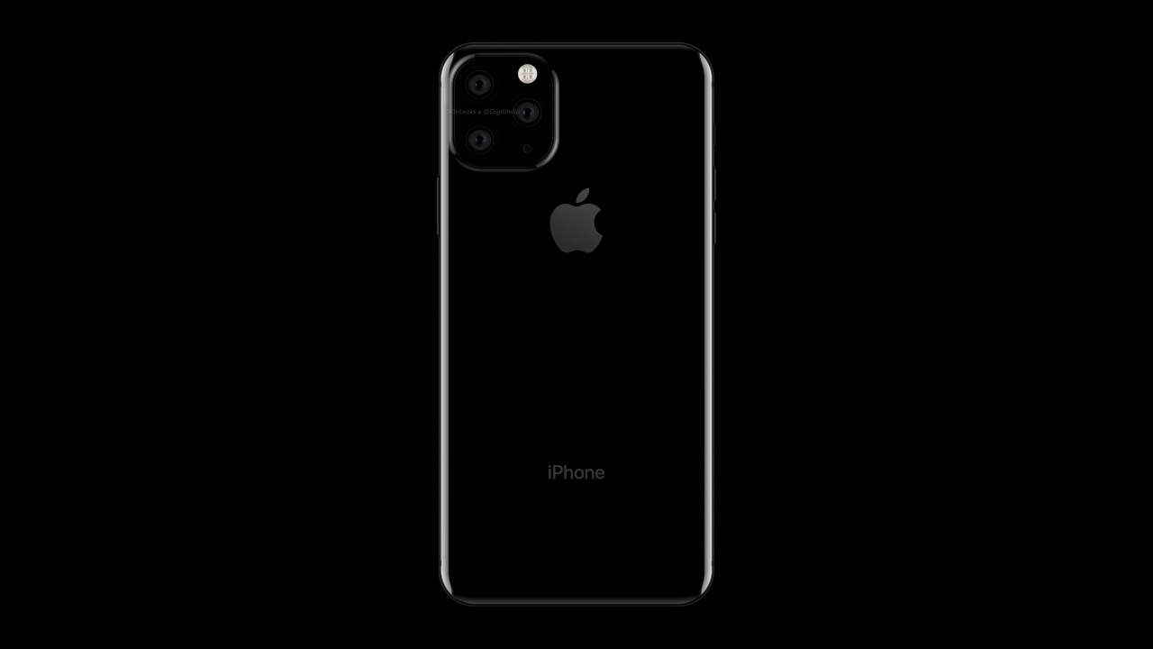 iPhone-render met 3 camera's
