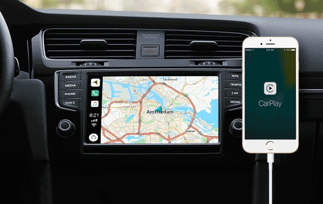 CarPlay TomTom met iPhone.