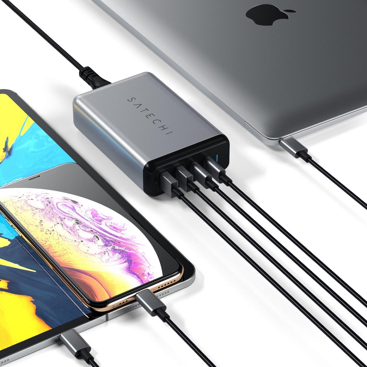 Satechi USB-C lader voor Apple-producten.