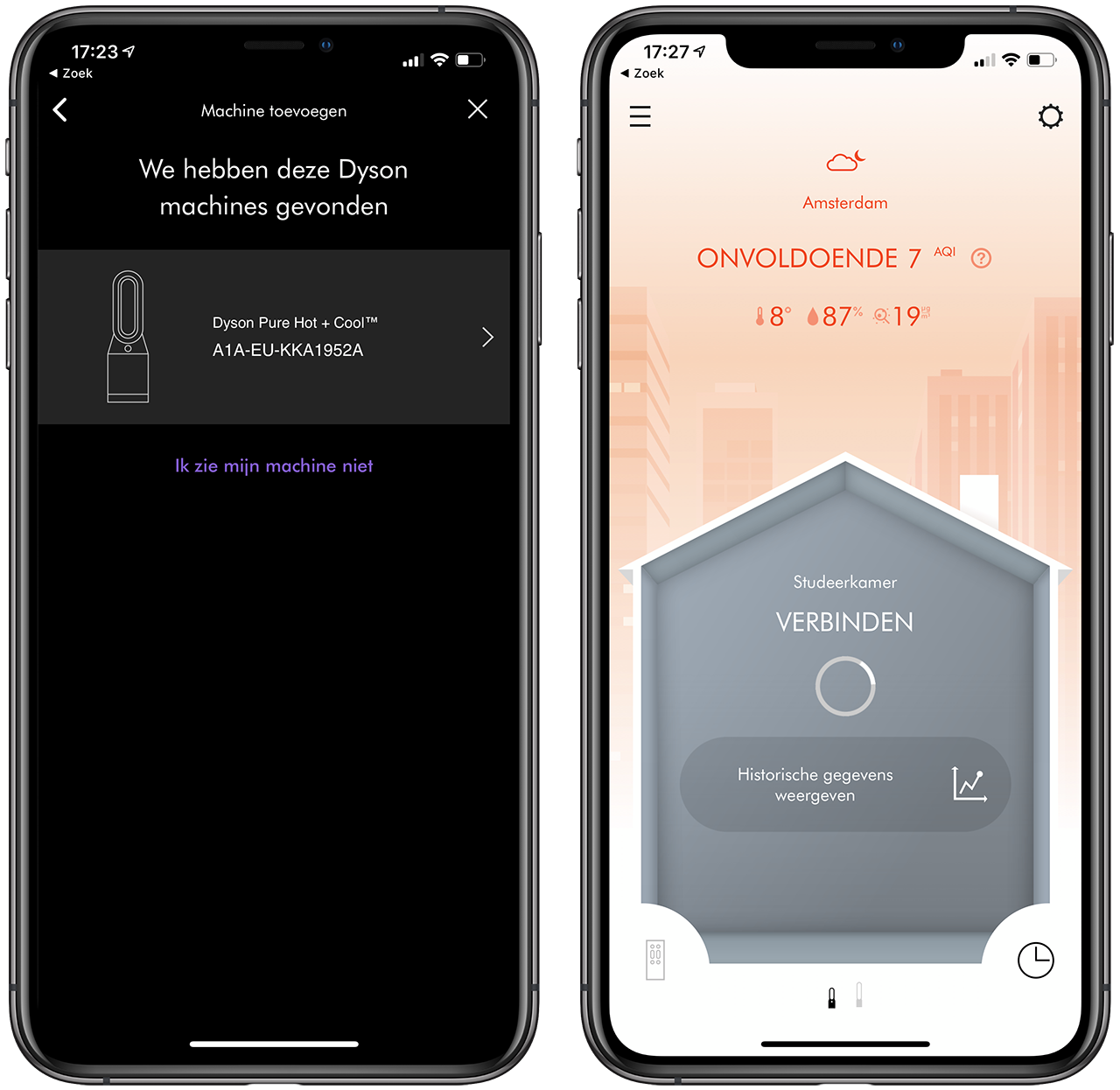 Dyson Pure Hot+Cool app installeren