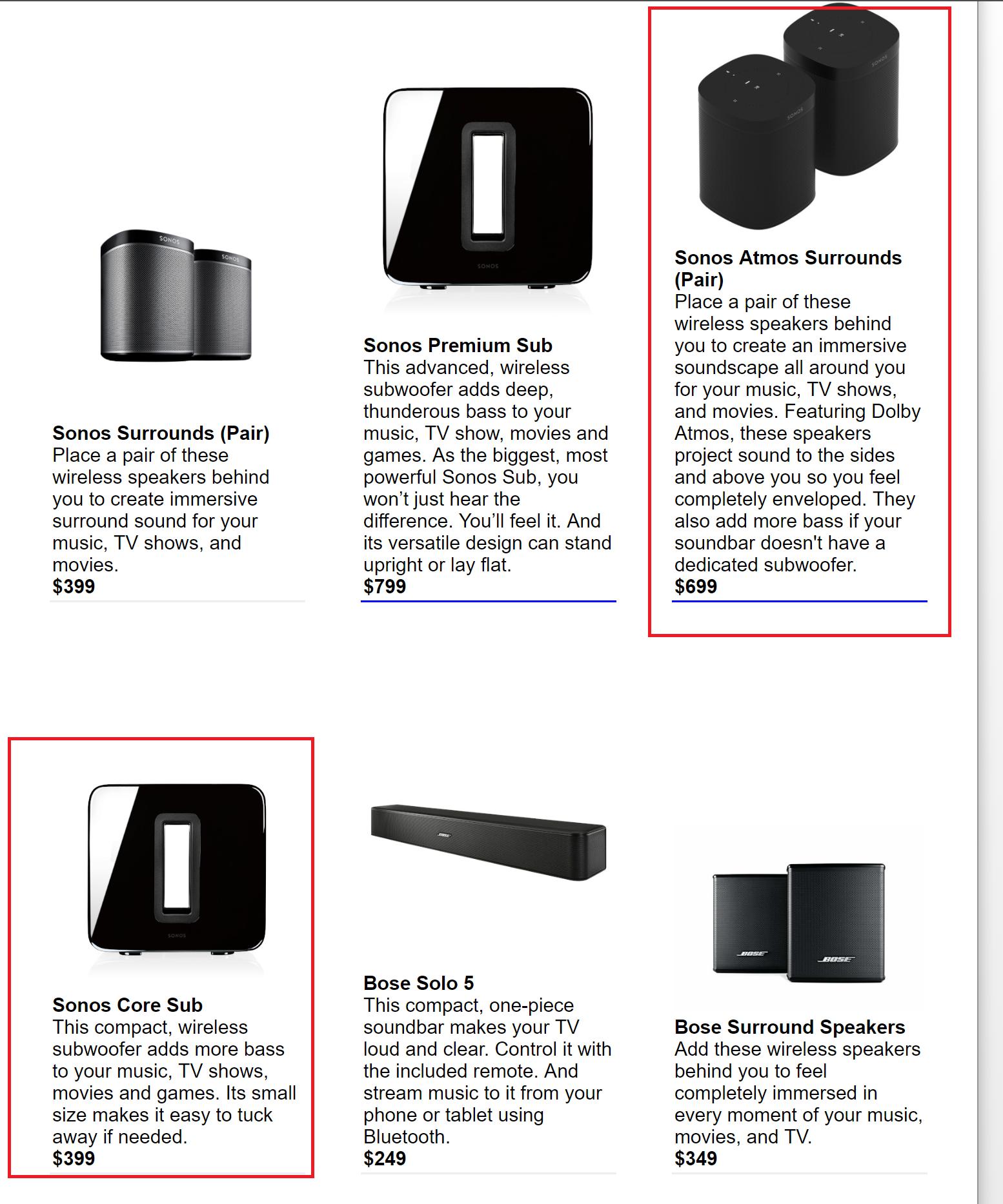 Sonos enquete over nieuwe producten met Dolby Atmos.