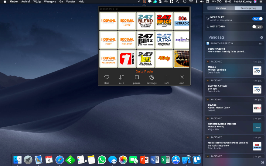 radioNED voor de Mac.