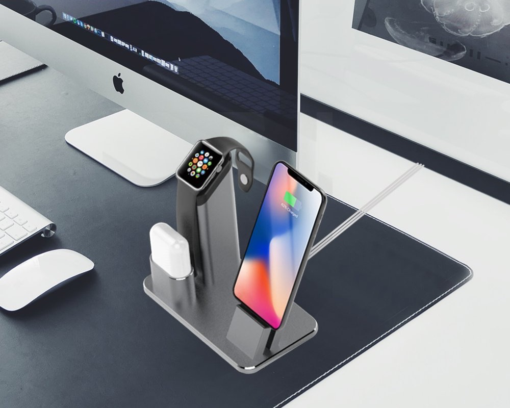 LADUO dock voor iPhone, Apple Watch en AirPods.