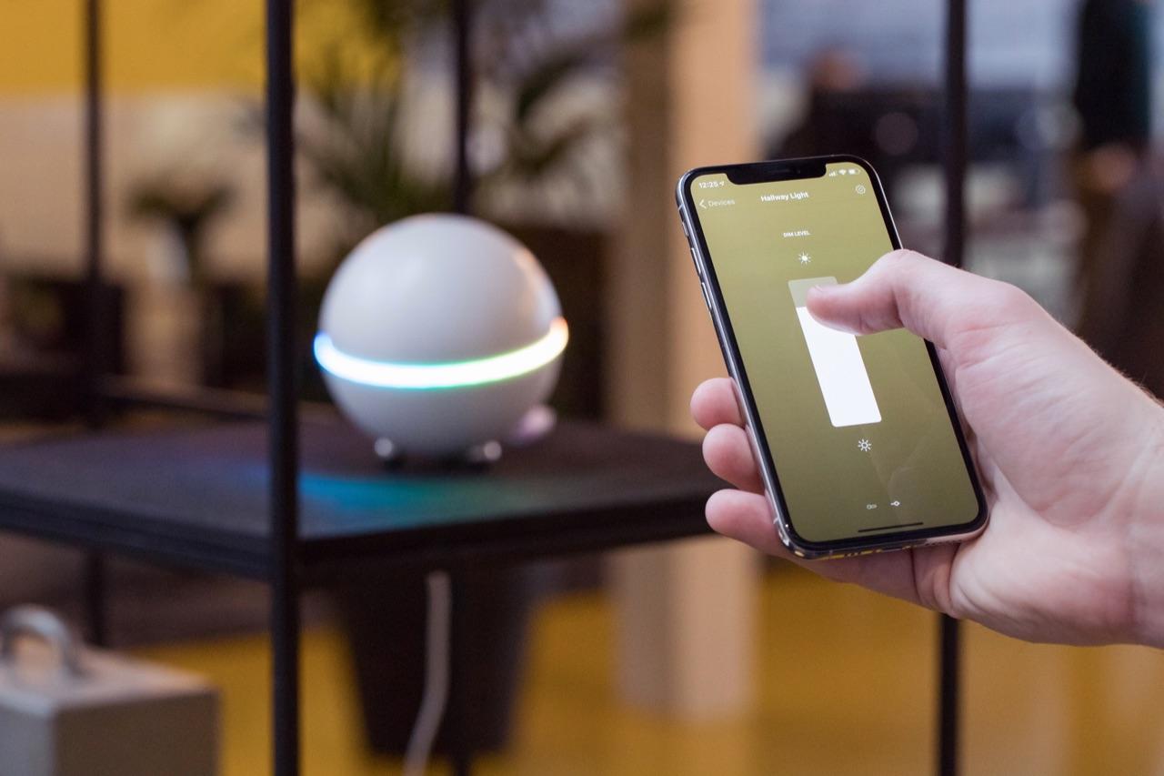 Verlichting met Homey-app.