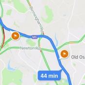 Google Maps met flitsers
