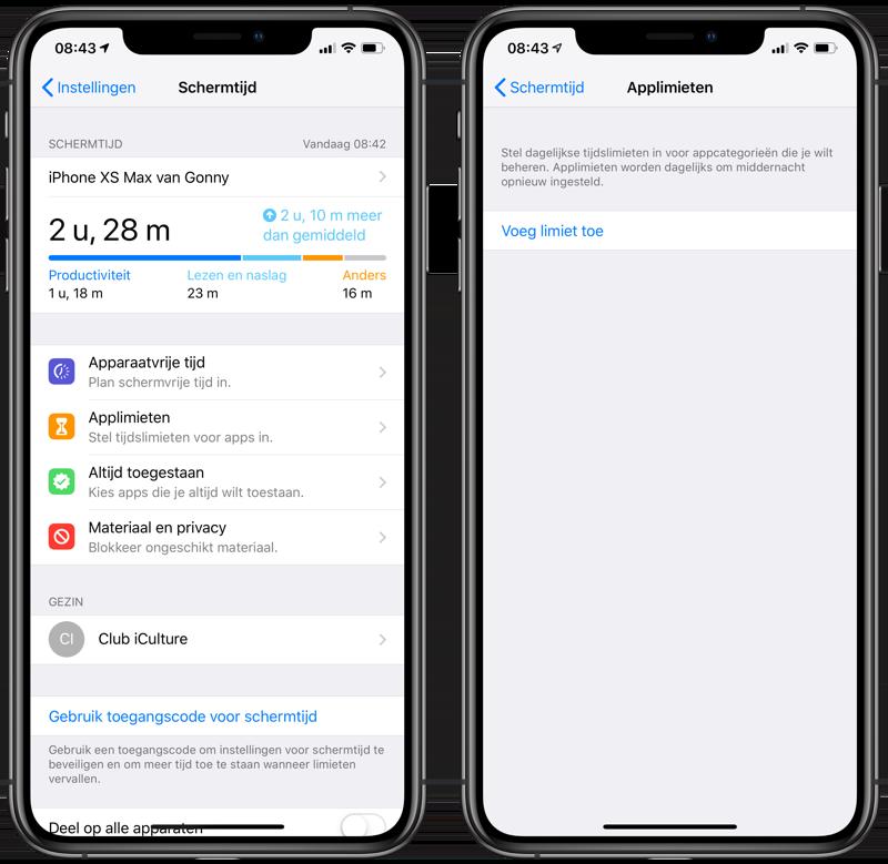 Apps: wachtwoord instellen