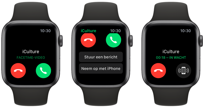 FaceTime beantwoorden via Apple Watch.