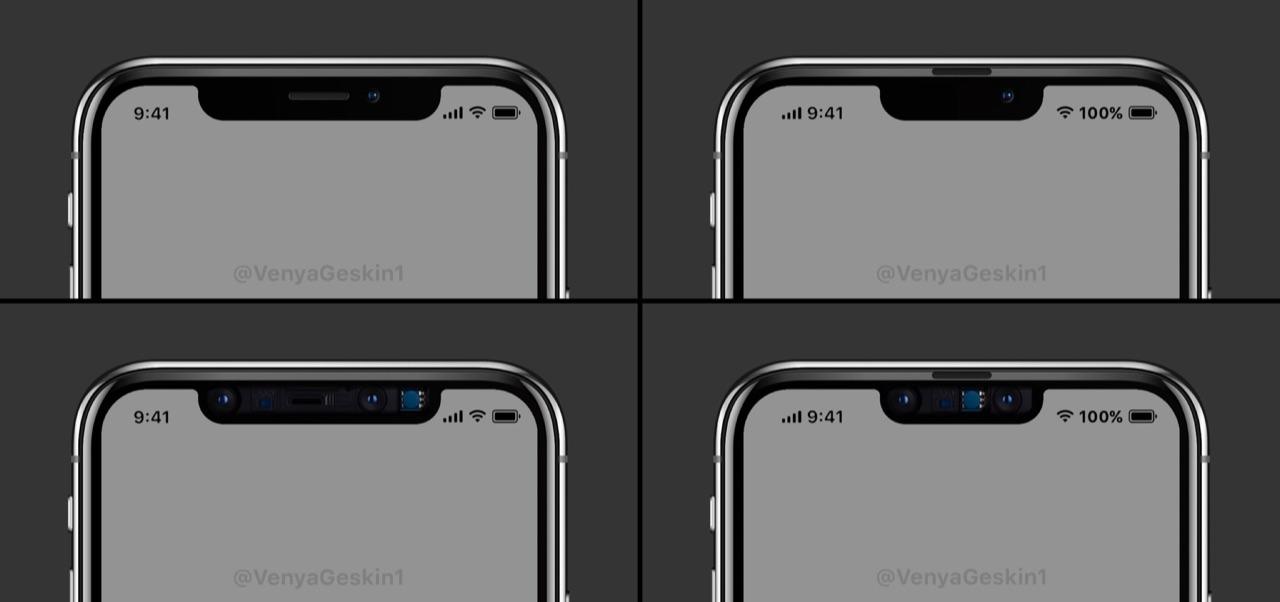 iPhone 2019 concept met notch.
