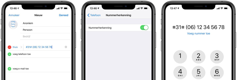 Anoniem bellen iPhone: nummerherkenning uitzetten.