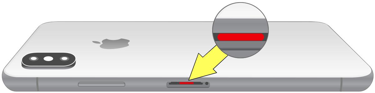 iPhone vloeistofsensor